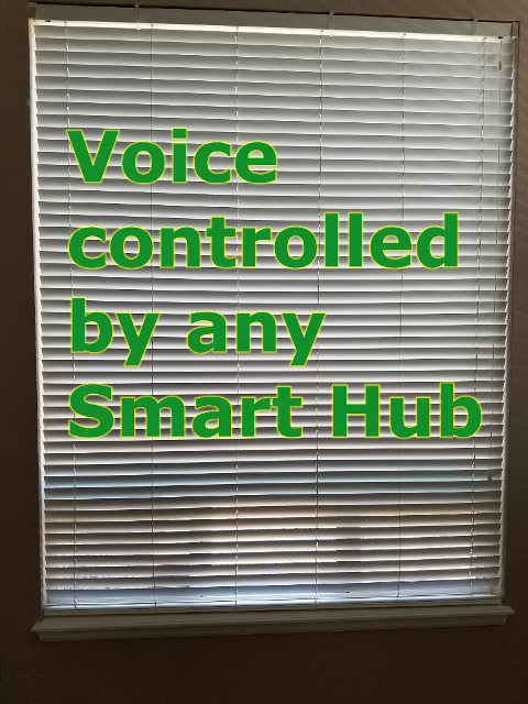 Existing blinds voice automated for any smart home hub