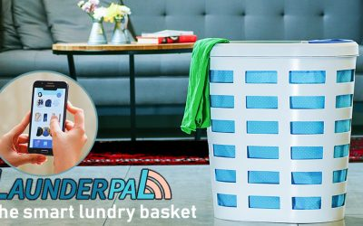 LaunderPal is a smart laundry basket that takes care of your clothes and helps you manage them